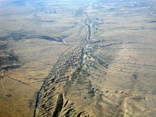 The San Andreas Fault, on the Carrizo Plain.