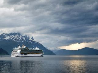 A cruise ship in Norway