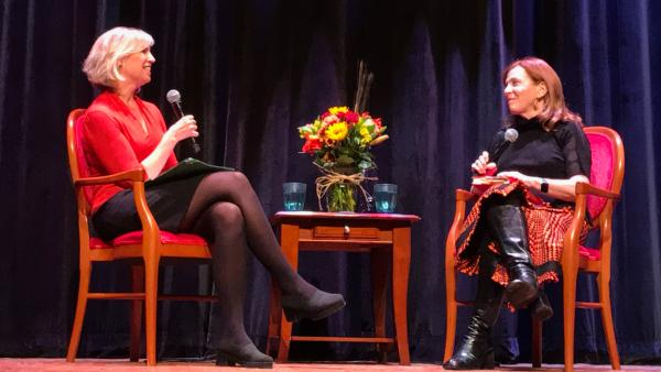 Anne Strainchamps and Susan Orlean at the National Writers Series