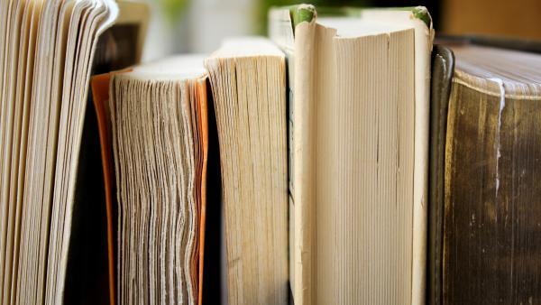 Books up close