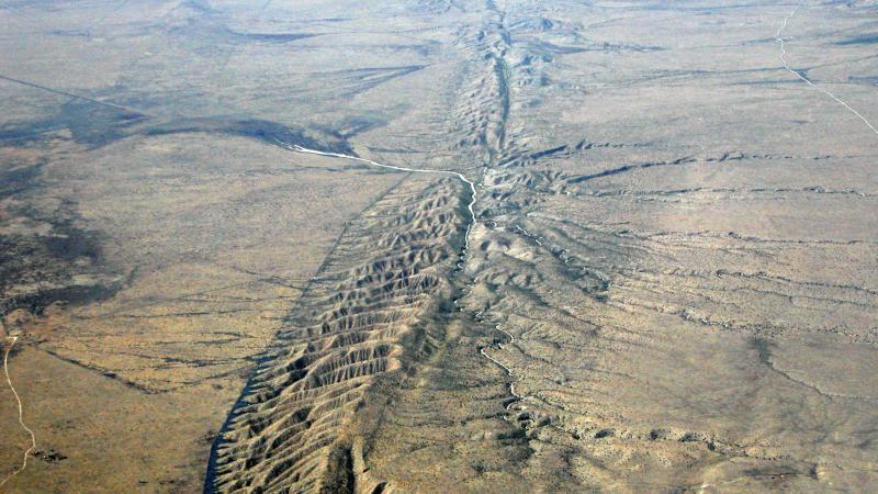 The San Andreas Fault, on the Carrizo Plain.