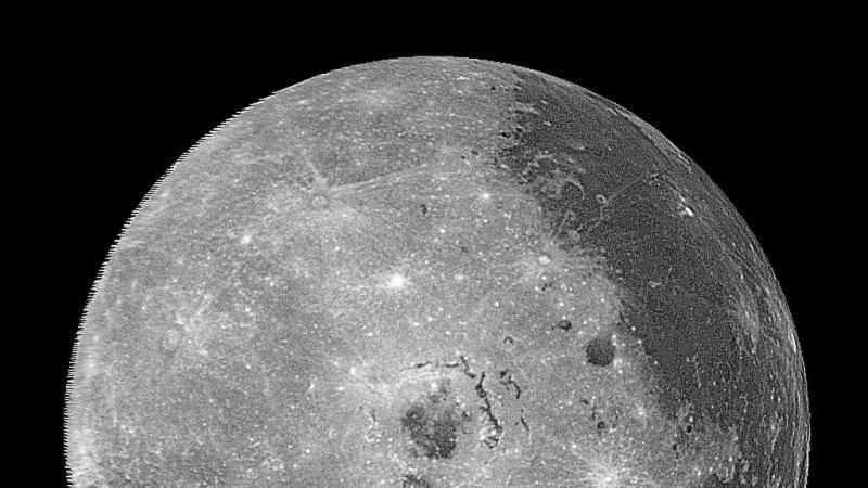 Western hemisphere of the moon