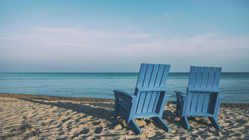 chairs on a beach